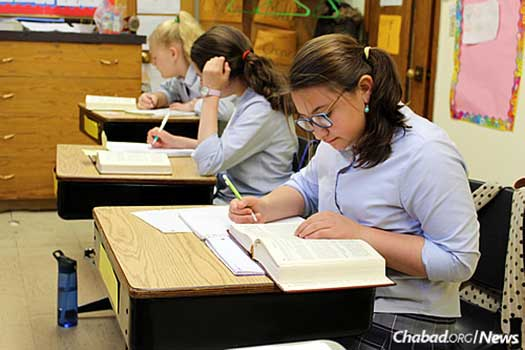 Currently, 100 children are enrolled, from ages 16 months through eighth grade.