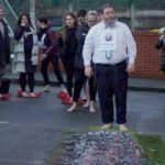 Chabad Rabbi Walks on Burning Coals for Charity