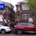 Students Rally in Front of Nazi Guard's Queens Home