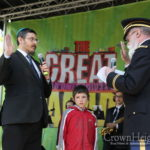 New Army Chaplain Sworn In at Lag BaOmer Parade