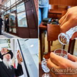 Rabbi Yeroslavski Affixes New Mezuza in Moscow