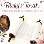 Rivky's Torah to Be Completed with Joyous Celebration