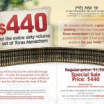 Donors Subsidize Purchase of Toras Menachem