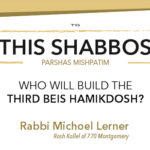 Shabbos at Besht: Who Will Build the Beis Hamikdosh?