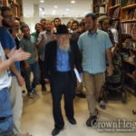 Joy and Dancing Greet Rabbi Steinsaltz's Return