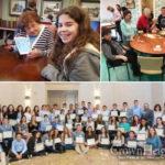 Teens and Seniors Link Hearts