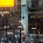 Van Rams Tourists Near Barcelona Chabad Restaurant