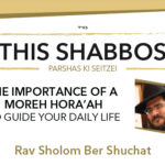 Shabbos at the Besht: Importance of a Moreh Hora'ah