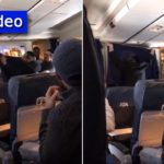 Video: Charedi Jews Cover Airplane's Video Screen