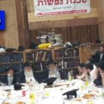 R' Yoel Kahan's Farbrengen Interrupted by Hoodlums