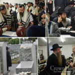 Photos: First Full Day of the Kinus Begins at the Ohel