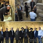 Illinois Governor Joins Shluchim at Western Wall