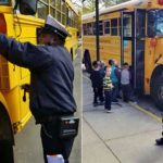 Video: Traffic Cop Tickets School Bus Loading Children
