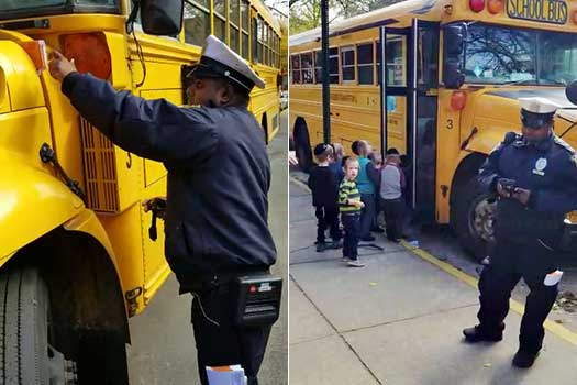 Traffic Ticket Nyc >> Video: Traffic Cop Tickets School Bus Loading Children • CrownHeights.info – Chabad News, Crown ...