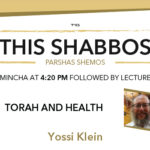 Shabbos at the Besht: Torah and Health