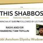 Shabbos at the Besht: Rashi and/or Rabbeinu Tam Tefillin