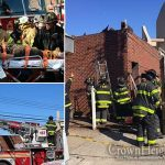 Burnt-out Building Collapses on Construction Worker