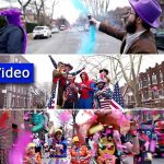 Video: Slow-mo Purim in Crown Heights