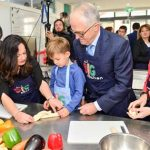 Australian PM Bakes Challah in Our Big Kitchen