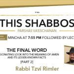 Shabbos at the Besht: The Final Word – Part 2