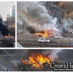 Fiery Crash Closes the Brooklyn Bridge