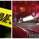 Vehicle Overturns on Lefferts Overnight