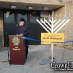 Menorah Lighting and Dedication at the 71st Precinct
