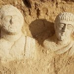 Woman finds 1,700-year-old stone Statues Near Beit She'an
