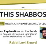 Shabbos at the Besht: Your Explanations on the Torah