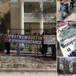 Shabbos Protests Outside Chabad of University of Texas
