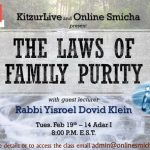 KitzurLive: Special Shiur on Family Purity for Men