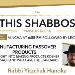 Shabbos at the Besht: Manufacturing Passover Products