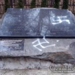 Swastikas Painted on Memorial for Jewish Holocaust Victims in Town That Once Hosted Tomchei Temimim