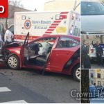 Police Vehicle T-Boned in Crown Heights Intersection