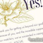 A Thank you From Devorah Benjamin and KSCVK