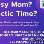 REMINDER: Free Vaccine Clinic Monday