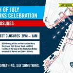 July 4th Fireworks Show Street Closures
