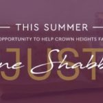 CSSY launches Just One Shabbos Summer Campaign for Crown Heights