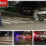Car Crashes into Brick Wall in Crown Heights Accident