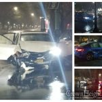 Two Vehicle Crash Leaves Both Vehicles On Eastern Parkway Island