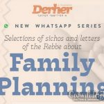 New Whatsapp Series On The Rebbe's Guidance For Family Planning
