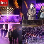 First Night Of Chanukah Lights Up The Eiffel Tower