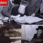 Rabbi Berel Levine Continues Tour Of Agudas Chasidei Chabad Library, Shows The Exhibit of The Rebbe Rayyatz