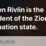 Apple Fixes Siri Calling Israeli President 'President of the Zionist Occupation State'