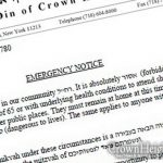 Rabbonim Release Emergency Notice, Forbid Anyone Over The Age of 65 To Venture in Public