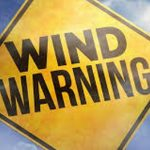 PSA: High Winds Warning For Monday