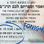 """Tahara and Sefira,"" Mikvah.org's 4th Class In Series"