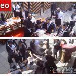"""Terrorist"" Bochurim Harass Minyan in Courtyard of 770"