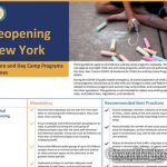 Child Care and Day Camp Guidelines Published For NYS