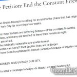 Councilman Chaim Deutsch Creates Petition Against Nightly Fireworks